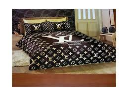 Louis Vuitton Bed Set 001 Louis Vuitton 6pcs Authentic Luxury Bed Set Satin Made In