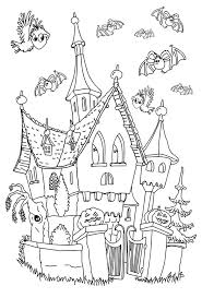 Halloween Haunted House Stories by Halloween Coloring Pages For Adults Justcolor