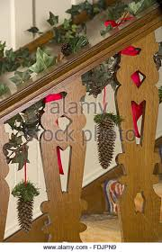 Christmas Banisters Interiors Stairs Banisters Traditional Stock Photos U0026 Interiors