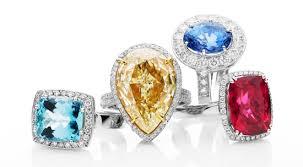 coloured stones rings images Black engagement rings jpg