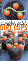 pumpkin patch dirt cups recipe dirt cups fall snacks and