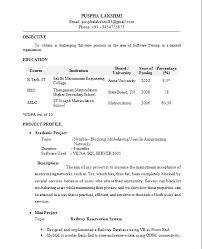fresher resume format resume name e mail contact objective seeking