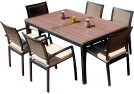 7 Piece Patio Dining Sets Clearance by Rattan Dining Chairs For Creative Look Exist Decor