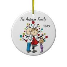 family christmas ornament couple with dog personalized ornament