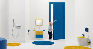 bright and colorful kids bathroom design idea for exciting