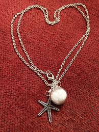 her story necklace images Starfish sand necklace and made a difference to that one story %20Gr