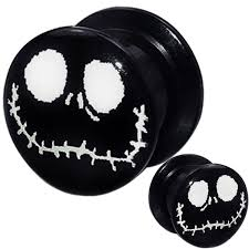 jack skeleton halloween amazon com 1 pair 8g 6g 4g 2g 0g 00g 1 2 9 16 5 8 11 16 3 4