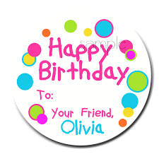 birthday stickers birthday stickers hot colors gift stickers