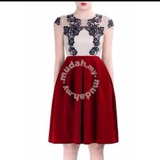 doublewoot red dress knee length clothes for sale in usj selangor