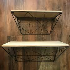 industrial wall shelving josie u0027s u2014 black metal industrial geometric wall shelf