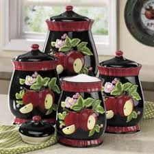 apple canisters for the kitchen apple kitchen decor canisters http avhts com pinterest