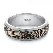 custom wedding bands custom palladium and mokume men s wedding band 102360