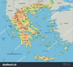 Physical Map Of Greece by High Detailed Greece Physical Map Labeling Stock Vector 403385392
