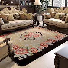 carpet for living room 150x200cm pastoral big carpets for living room carved coffee table