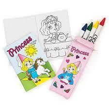 amazon dozen mini princess coloring sets crayons