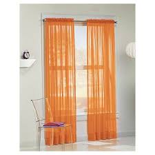 Sheer Curtains Orange Orange Sheer Curtains Target