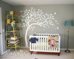 White Tree Wall Decal Nursery White Tree Wall Decals Nursery Large Wall Decal Room Wall