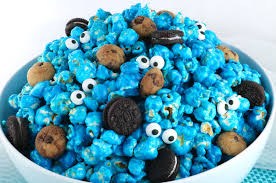 cookie monster popcorn two sisters crafting