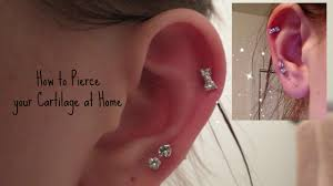 best place to buy cartilage earrings how i pierced my cartilage at home safely alyssa