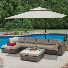 Wicker Sectional Patio Furniture - 5 piece riverside wicker furniture with oversized chair outdoor