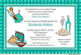 gift card wedding shower invitation wording cooking bridal shower card marriage custom colored party