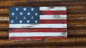 rustic distressed farmhouse style usa wooden flag front door