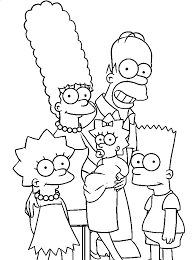 coloring simpsons coloring ideas coloring
