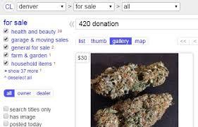 is it ever legal to buy or sell marijuana on craigslist