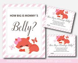 how big is a card table fox baby shower belly game with cards and table sign fox how big is