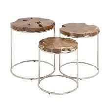 3 piece nesting tables woodland imports 3 piece nesting table large table 24 h x 20 w x