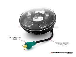black led headlight insert fits harley super glide fxr 1986
