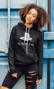 playstation black hoodie insert coin clothing