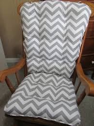Rocking Chair Cushion Sets For Nursery Rocking Chair Or Glider Cushions Set In Grey And White Zig Zag