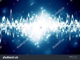 bright sound wave on dark blue stock illustration 156521660