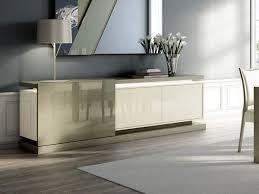 High Gloss Sideboards Uk Sliding Modern Sideboard In High Gloss And Oak Veneer W Optional