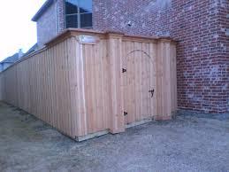 49 board on board cedar gate with custom wood columns fences