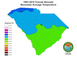 Temperature Map United States by South Carolina State Climatology Office