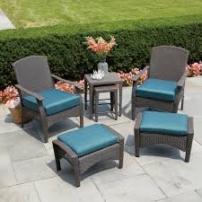 Wicker Patio Furniture Ottoman Hampton Bay Patio Conversation Sets Outdoor Lounge