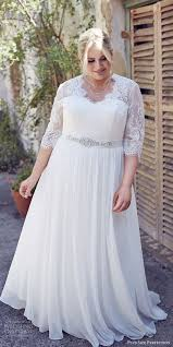 sleeve lace plus size wedding dress picture of white plus size wedding dress with half sleeves and a