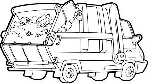 Image Coloriage Camion Poubelle Coloriage Camion Poubelle Imprimer