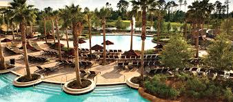 Backyard Pool With Lazy River Hilton Orlando Bonnet Creek Hotel Resort Near Disney