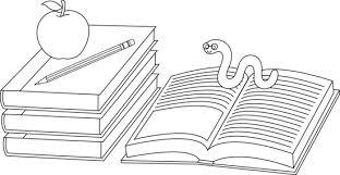 colorable books bookworm free clip art