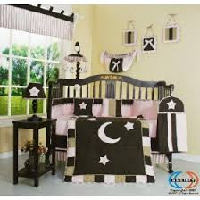 Moon Crib Bedding Geenny Brown Pink Or Brown Blue Moon 13 Crib