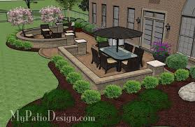 My Patio Design Beautiful Backyard Patio Design With Seat Wall 705 Sq Ft