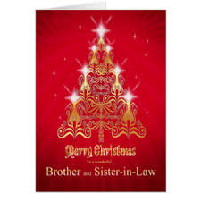 Brother Design Cards Sister And Brother In Law Christmas Cards Zazzle