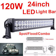 24 inch led light bar offroad 22 inch 120w waterproof car led light bar flood spot combo beam work