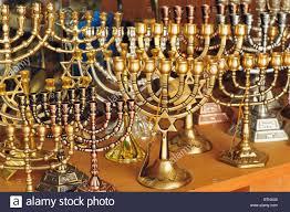 jerusalem menorah menorahs for sale in a shop in the jerusalem city market