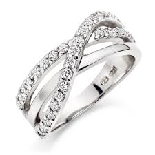 large silver rings images Silver cubic zirconia three row ring 0006453 beaverbrooks the