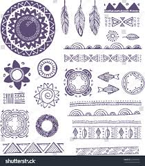 tribal boho bohemian mandala background stock vector