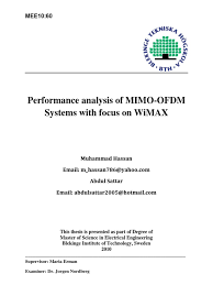 final version report orthogonal frequency division multiplexing